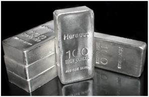 ONE HUNDRED OUNCE .999 SILVER BARS